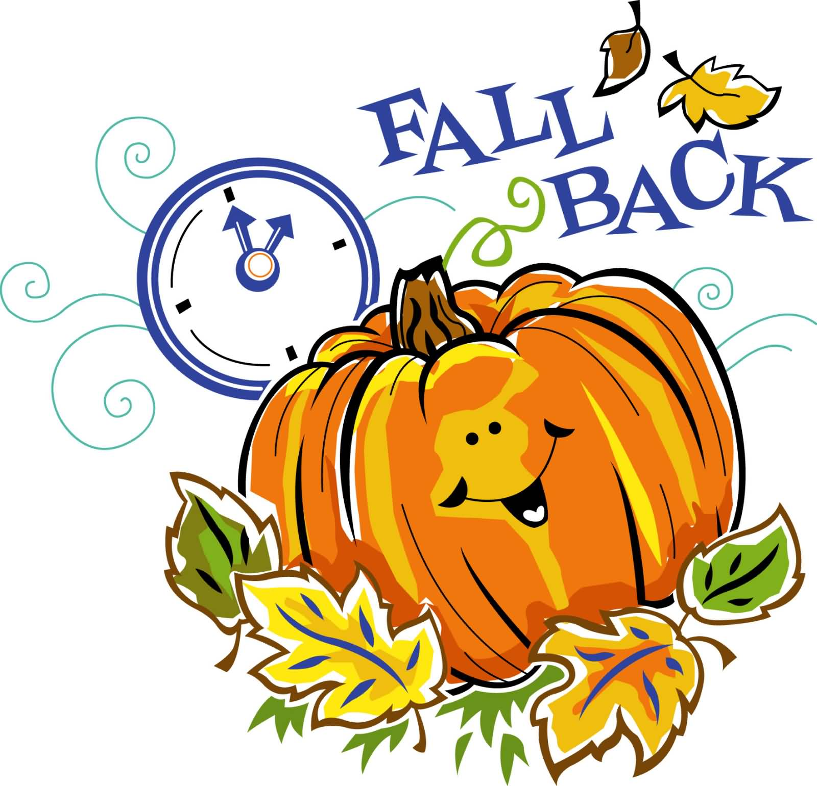 Daylight Savings Time Ends Clipart 1600x1541