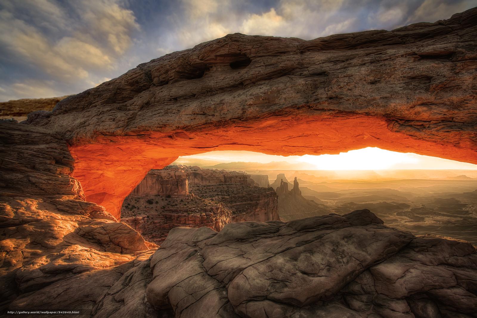 Download Hintergrund Canyonlands National Park Mountains arch 1600x1067