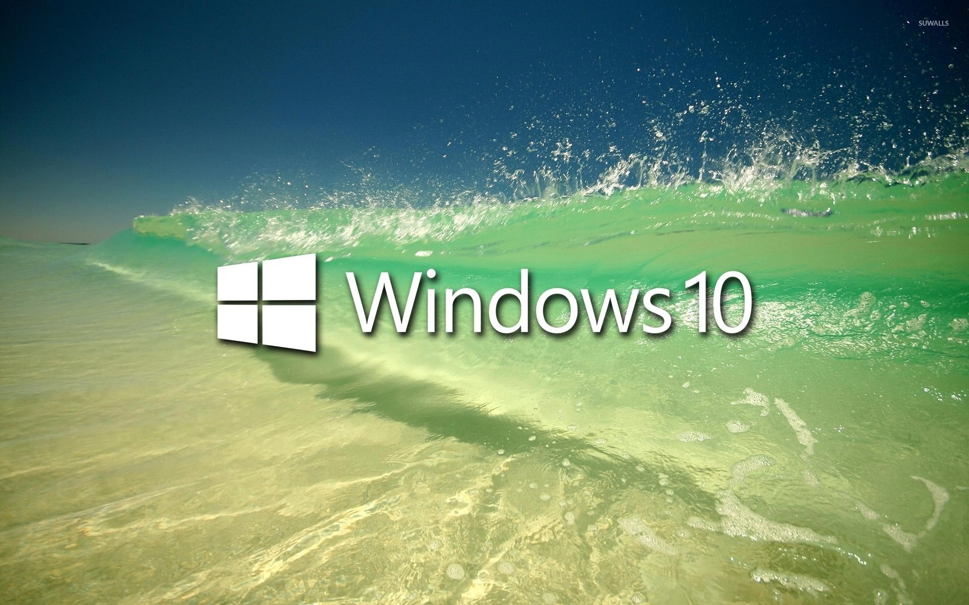 Windows 10 on a clear wave wallpaper   Computer wallpapers   46884 1680x1050