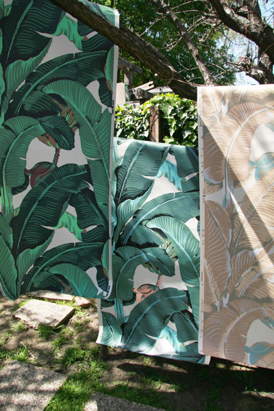 Martinique Banana Leaf Wallpaper   New Colors Available   Designer 400x600