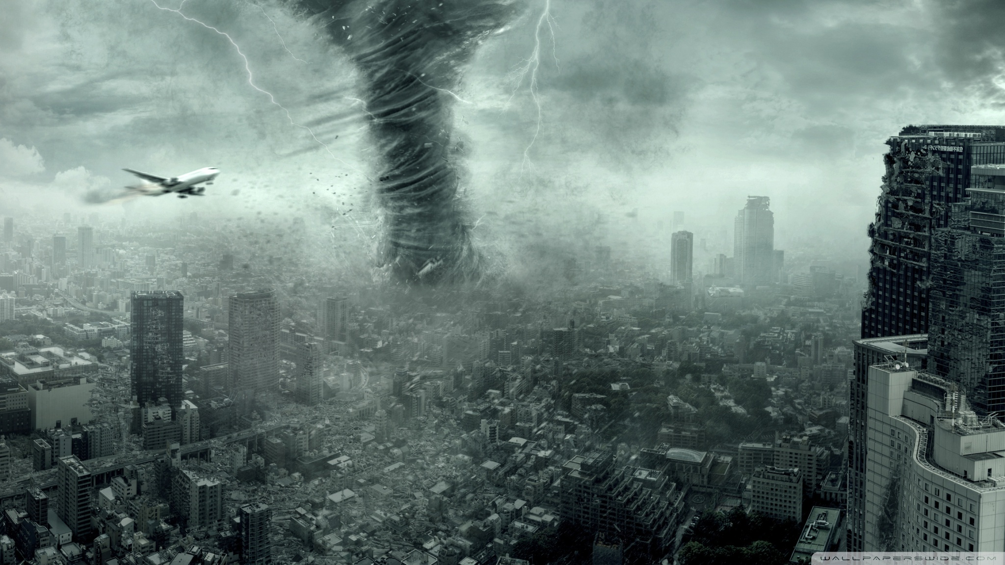 Tornado Hell Unleashed Wallpaper Full HD [20481152] 2048x1152