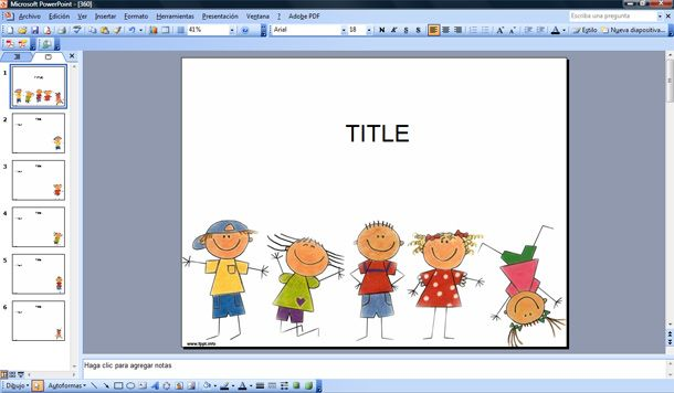 Happy Kids Powerpoint Template 610x356