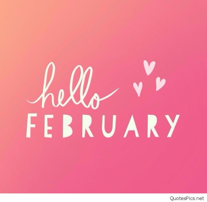 Hello February Wallpaper HD 2017 725x705