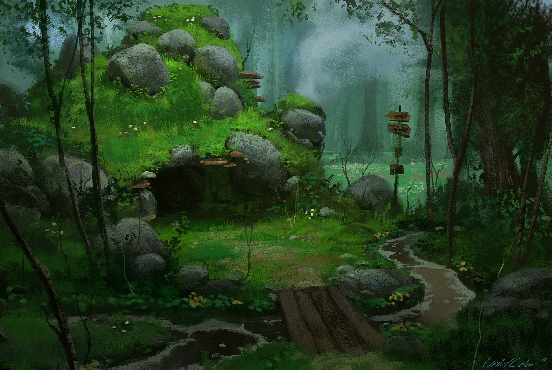 forest scene Computer Wallpapers Desktop Backgrounds 3000x1894 ID 3000x2011