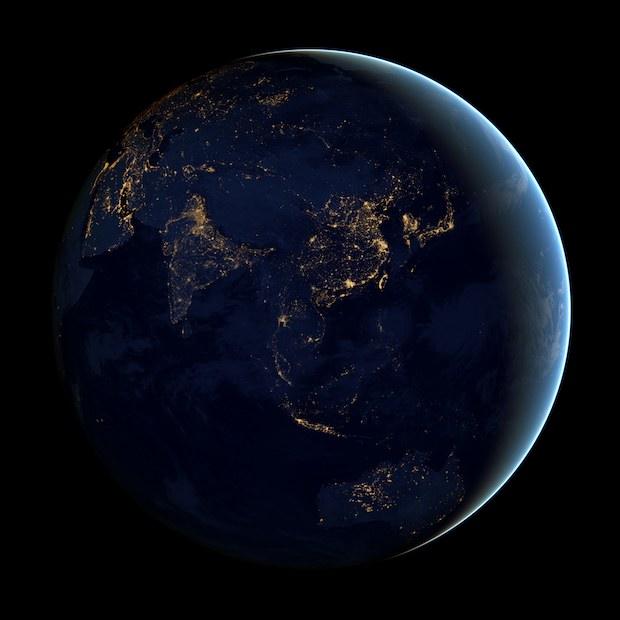 Asia and Australia at night globe view 620x620