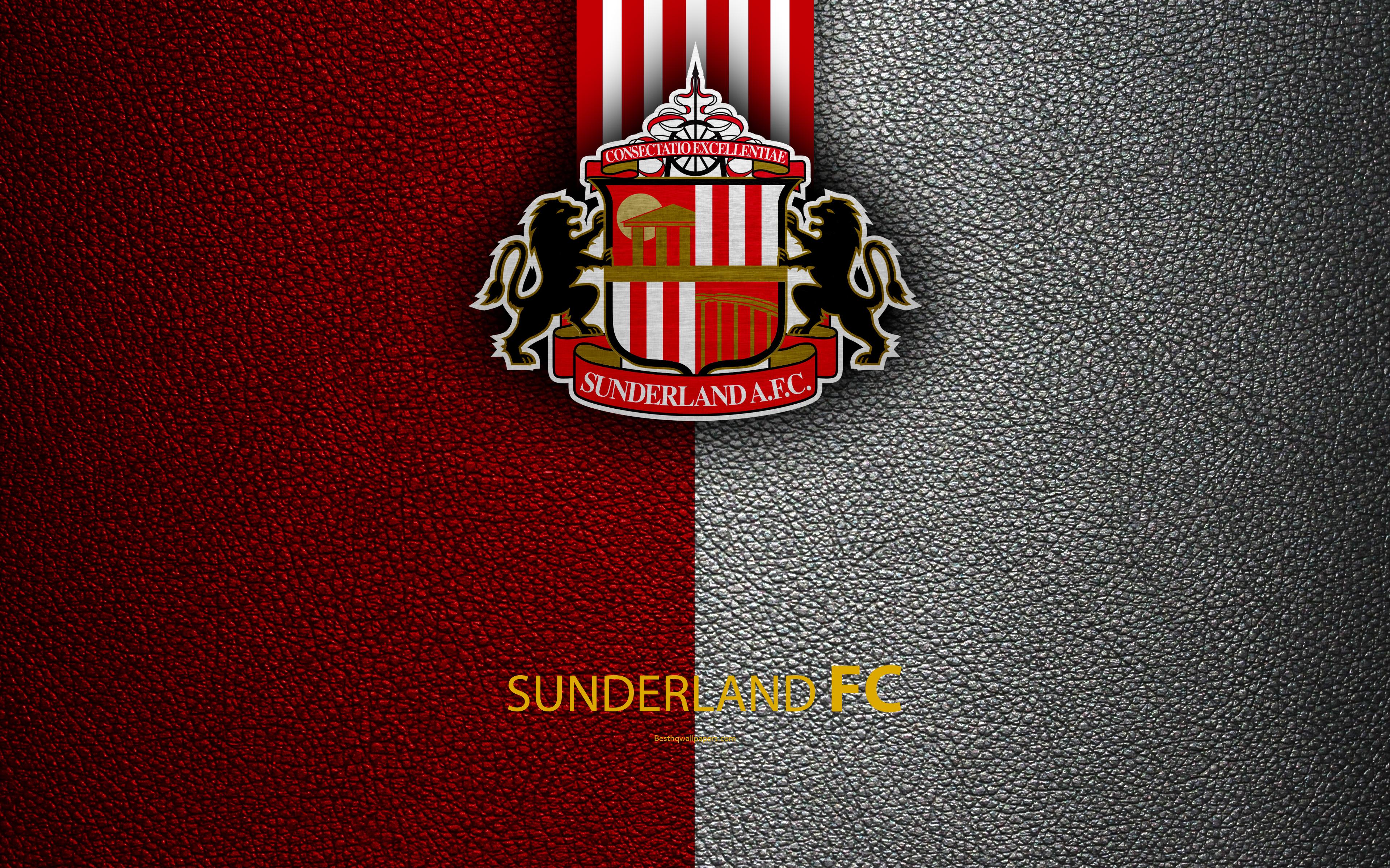 Download wallpapers Sunderland FC 4K English football club logo 3840x2400