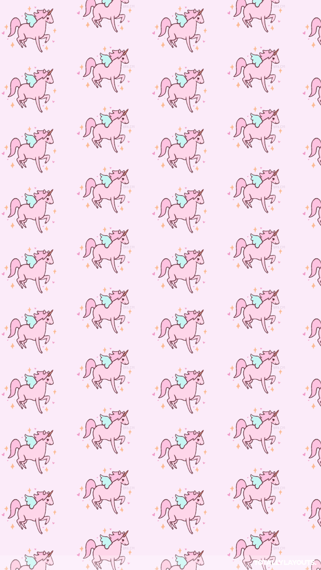 Free Download Pink Cute Unicorns Android Wallpaper Hipster