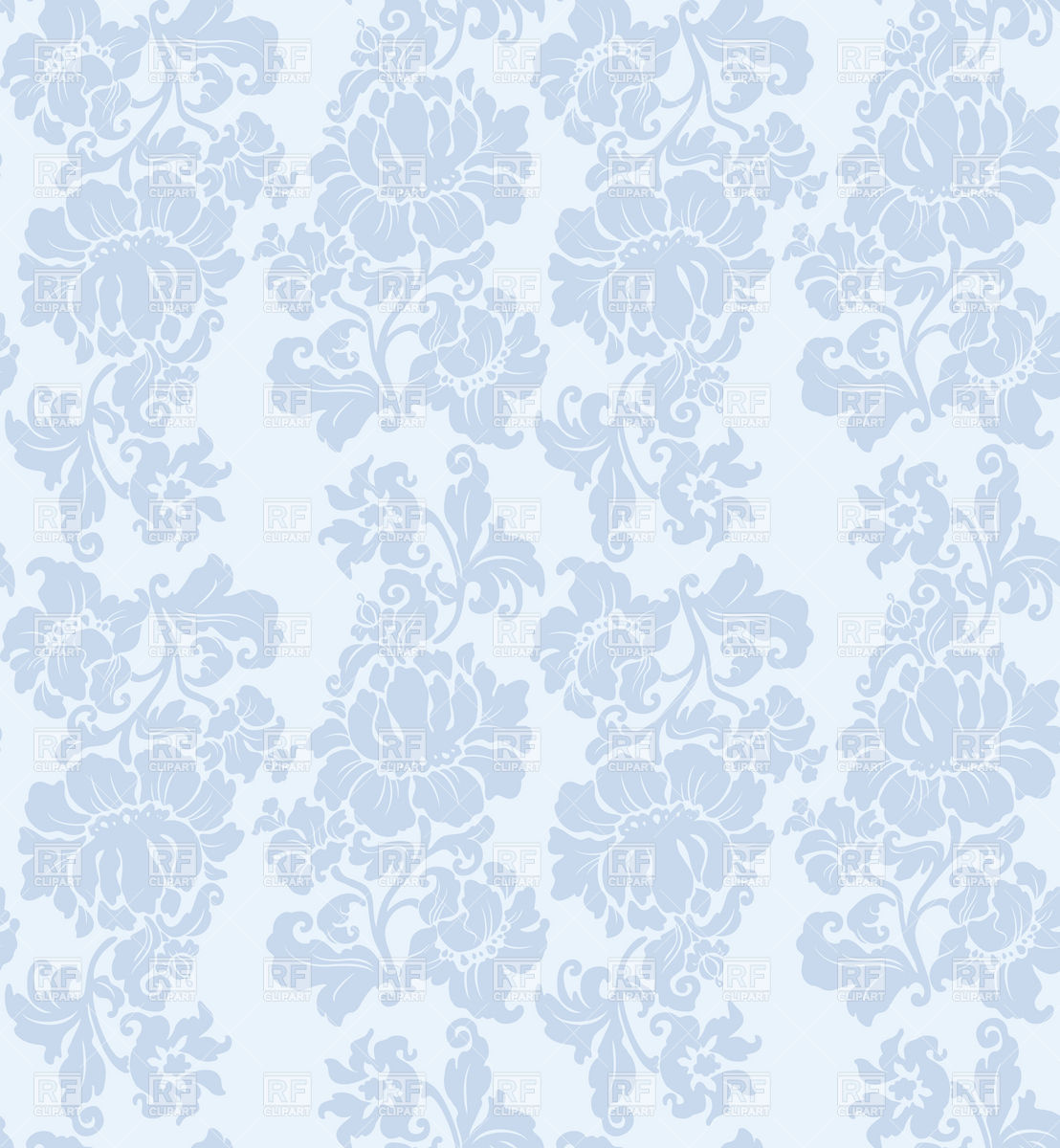 41 Blue Floral Wallpaper Victorian On Wallpapersafari
