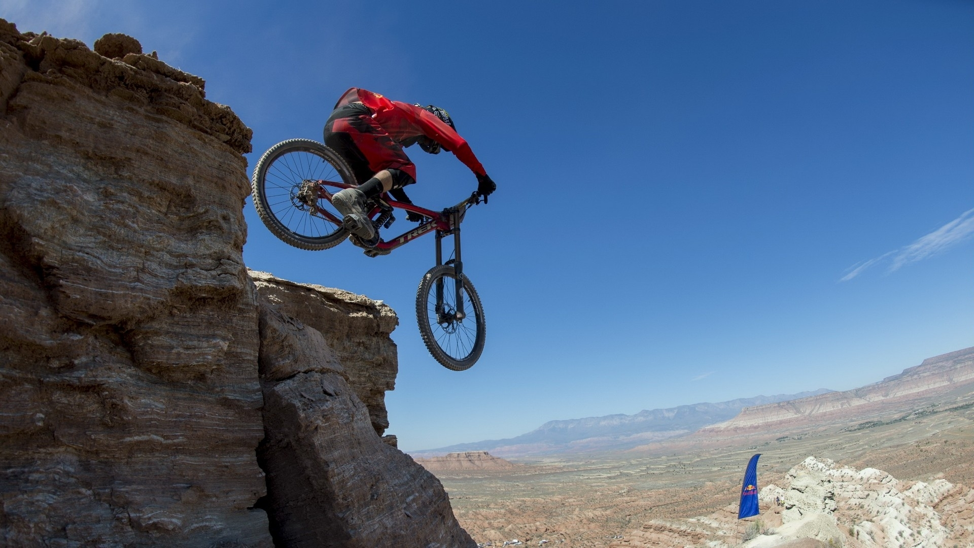 bicycles sports extreme red bull rampage mountain cliff landscapes 1920x1080