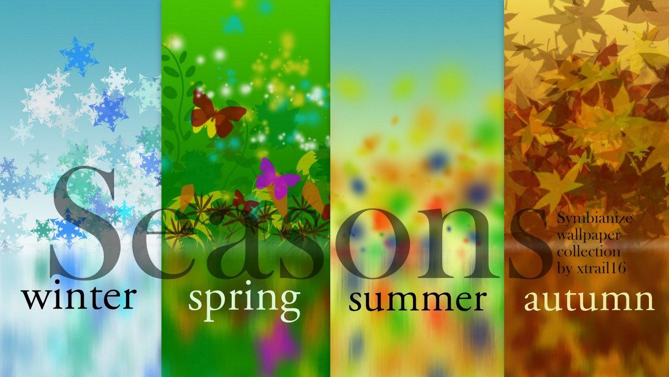 Four Seasons Wallpaper Desktop Image 1366x769