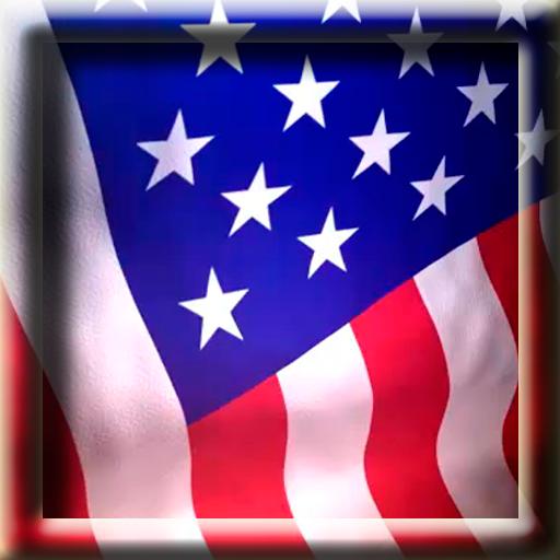 Animated American Flag Live Wallpaper 512x512