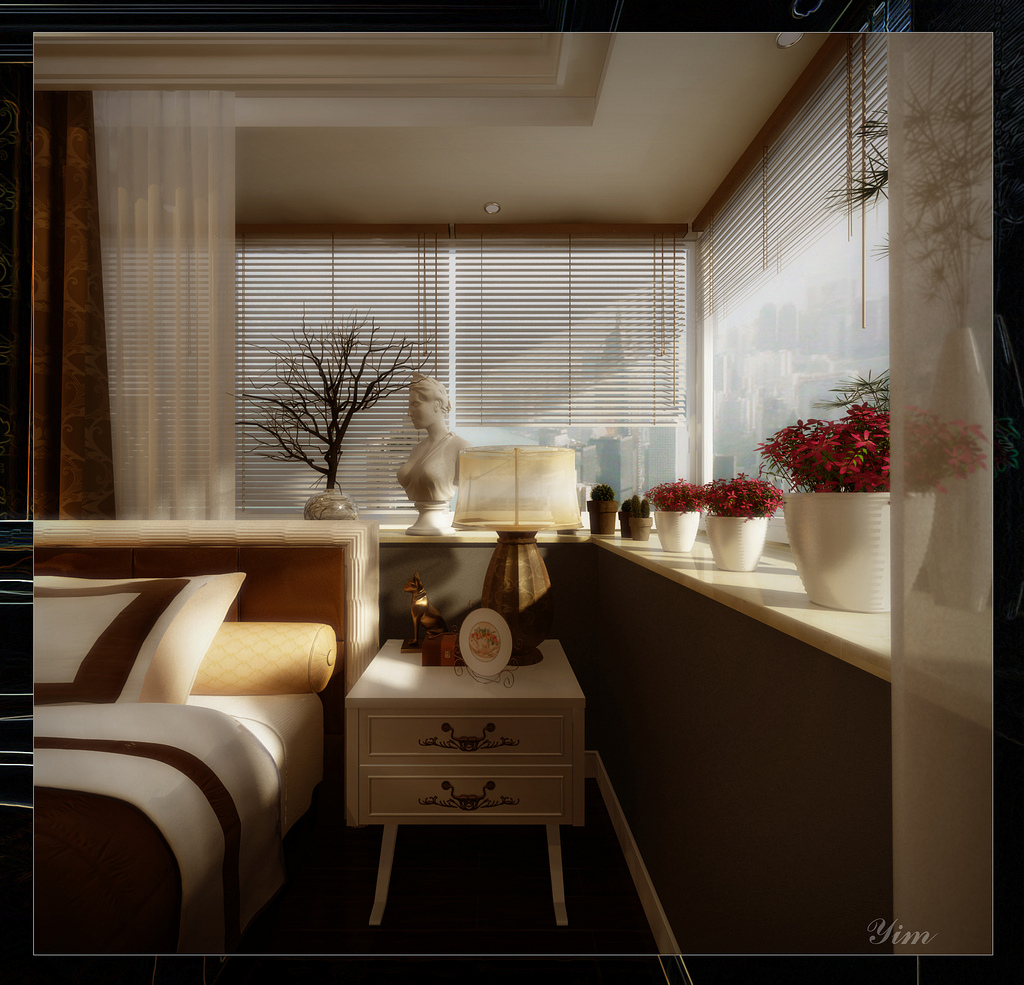 Bedside Table1 Warm and Cozy Rooms Rendered By Yim Lee Wallpaper 7 Yim 1024x985