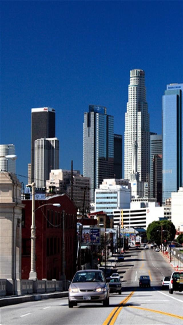 Downtown Los Angeles iPhone Wallpapers iPhone 5s4s3G Wallpapers 640x1136