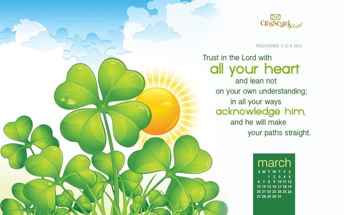 March 2016   Trust in the Lord Desktop Calendar  March Wallpaper 1100x687