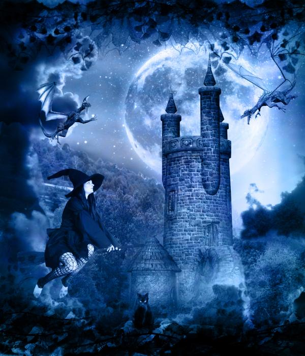 Witches Halloween Wallpapers Witchs Castle During Halloween Pictures 600x700