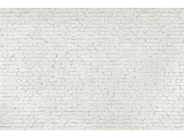 Distressed White Brick Wallpaper 733x550