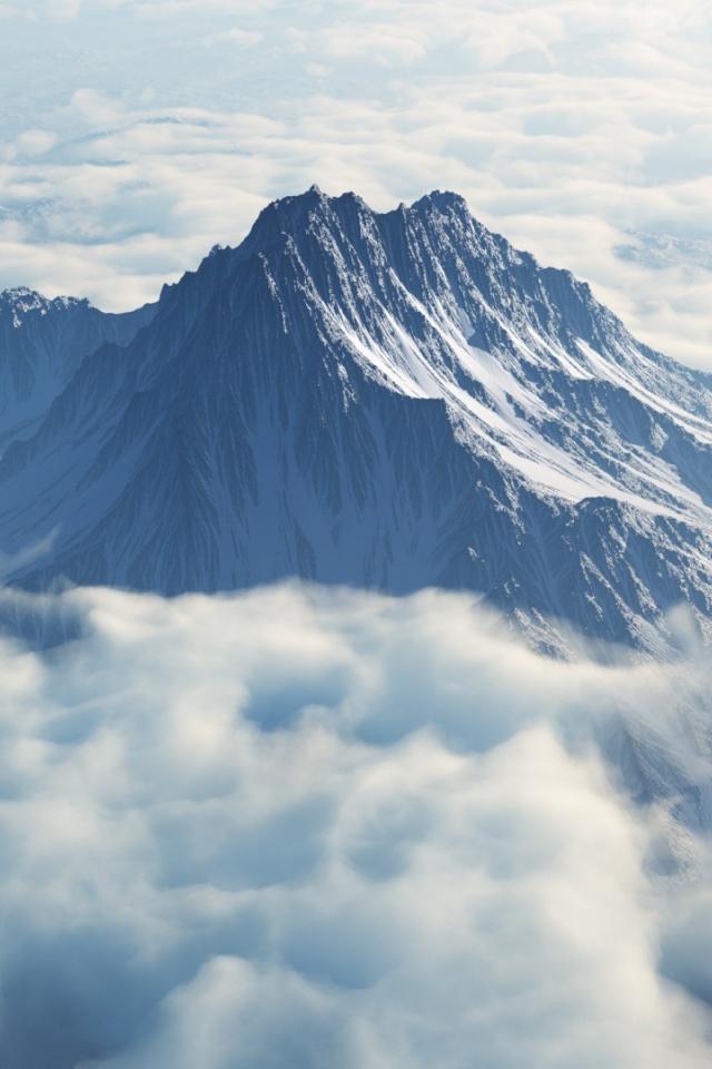 640x960 Mount Olympus Iphone 4 wallpaper 640x960