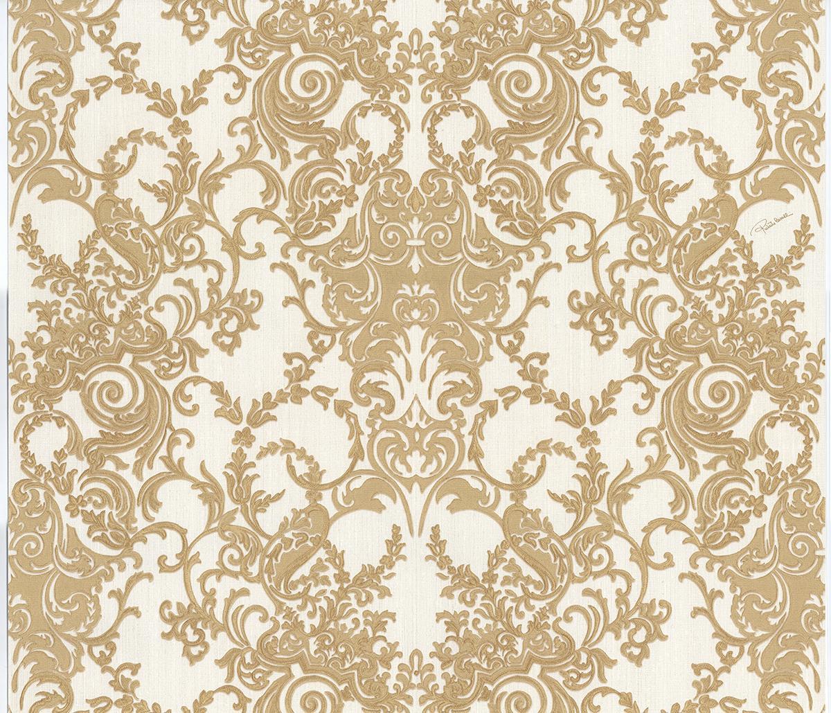 Roberto Cavalli Barocco RC15064 Wallpaper Gold Fashion 1200x1030