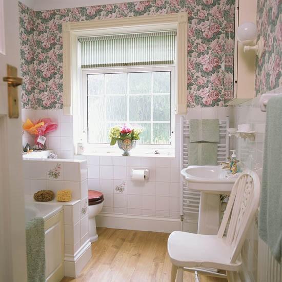 and stripes bathroom Bathroom wallpaper feature walls bathroom 550x550