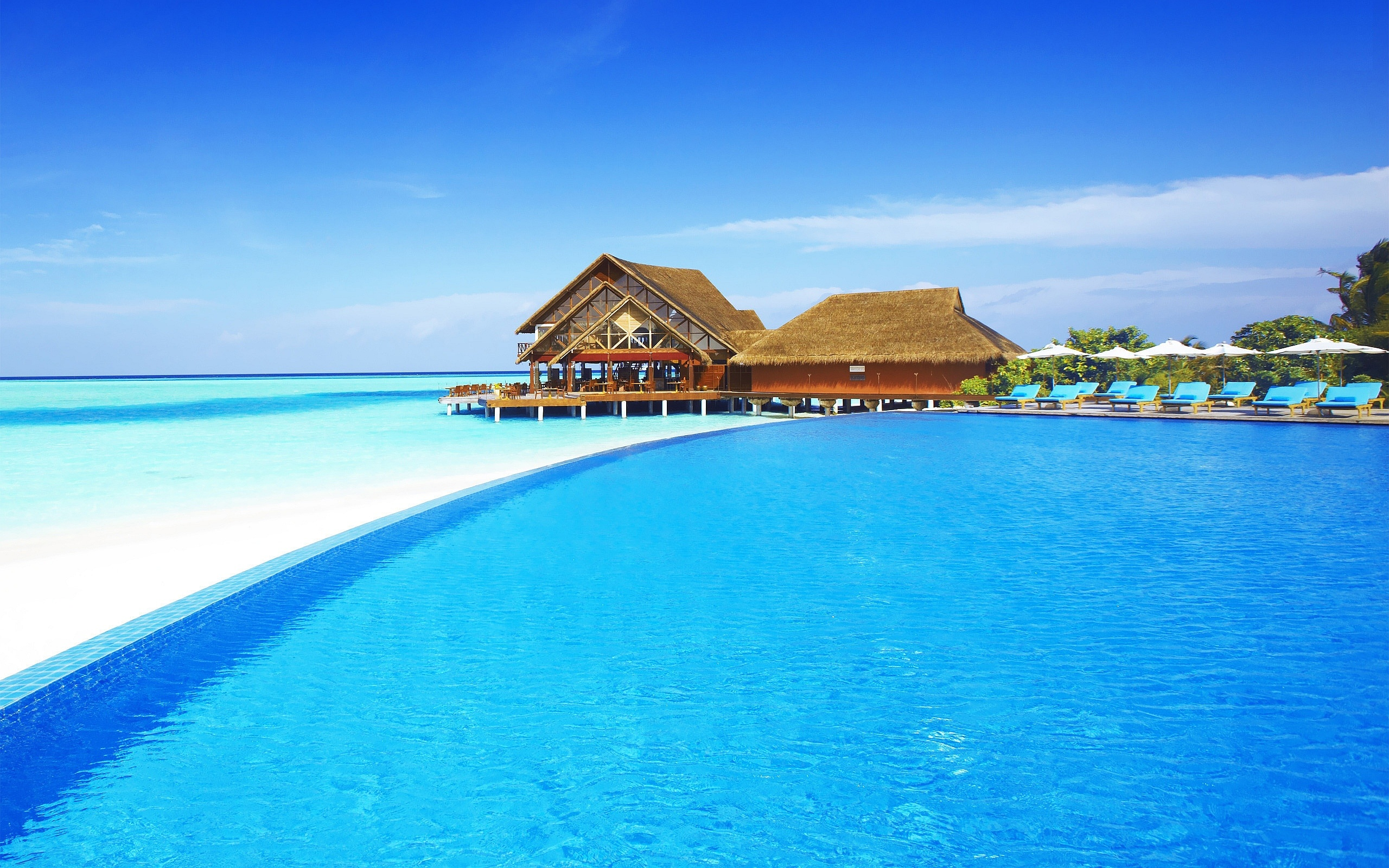 Maldives Beach Wallpapers HD 2560x1600