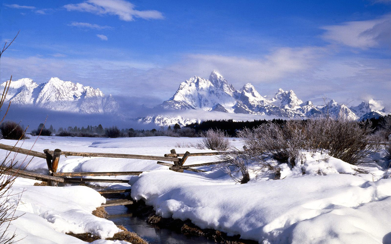 Winter wonderland Dreamy Snow Scene wallpaper 1440x900 1440x900