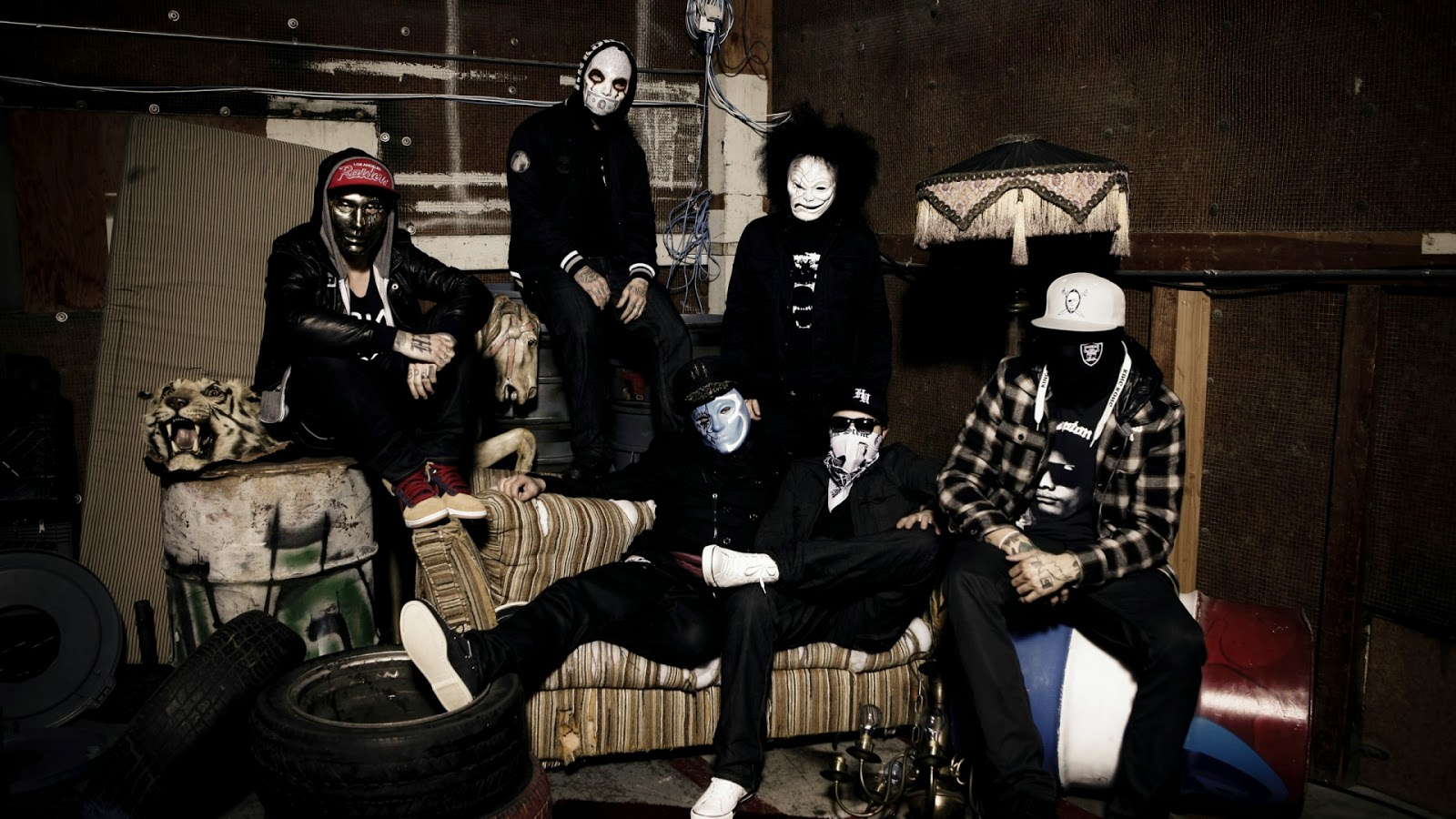 Music Wallpapers Hollywood Undead Mask Wallpaper 1600x900