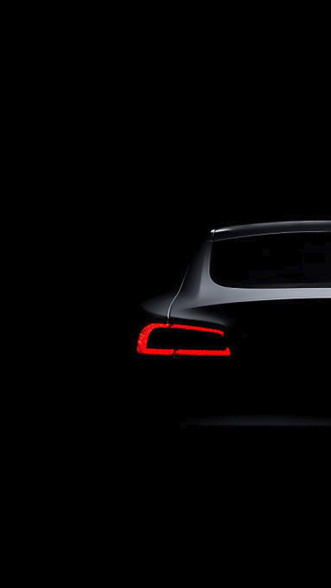 Tesla Model S Dark Brake Light iPhone 6 HD Wallpaper Dark 1080x1920
