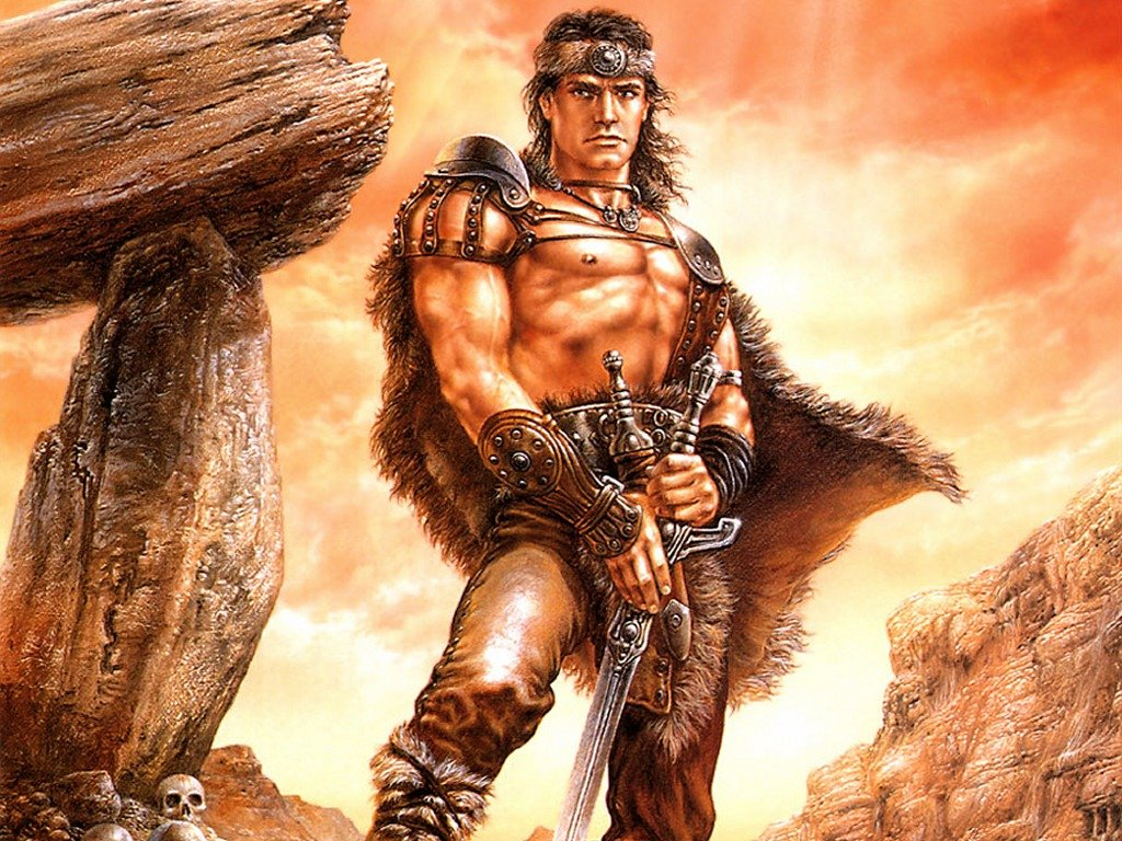Conan the Liberator Wallpapers Metal Luis Royo Heavy Metal 1024x768