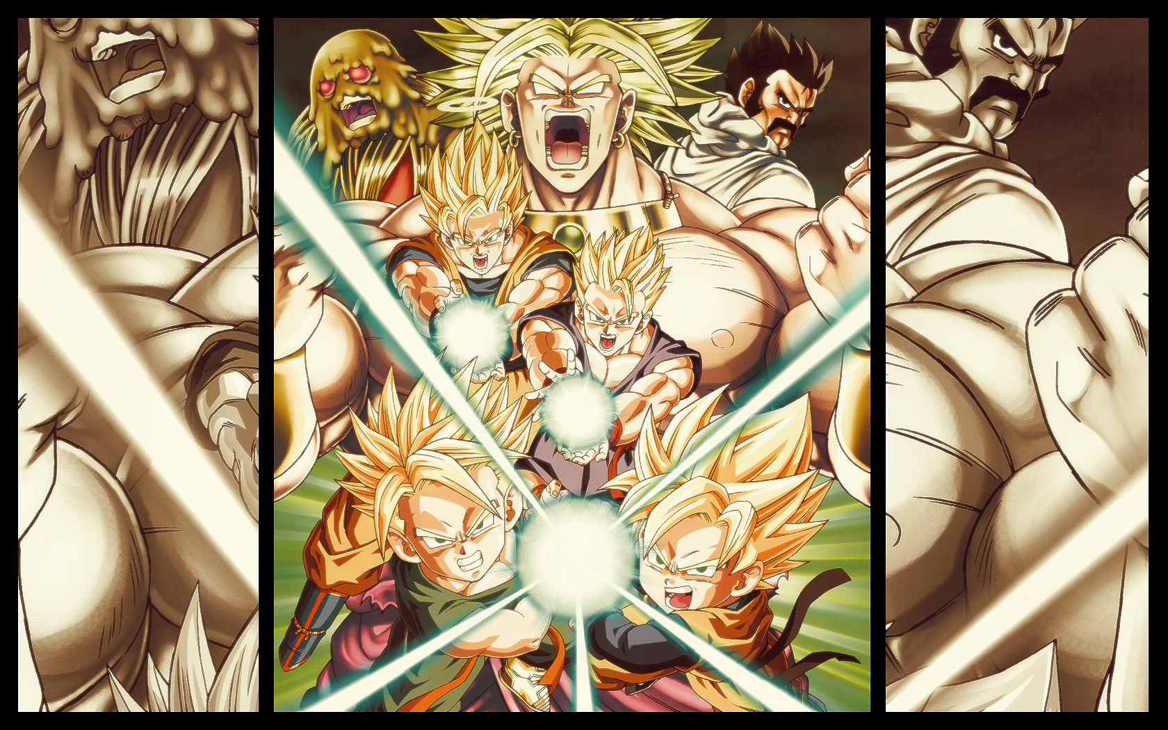 DBZ Warriors   Widescreen Dragon ball Z Wallpapers of Goku Vegeta   o 1680x1050