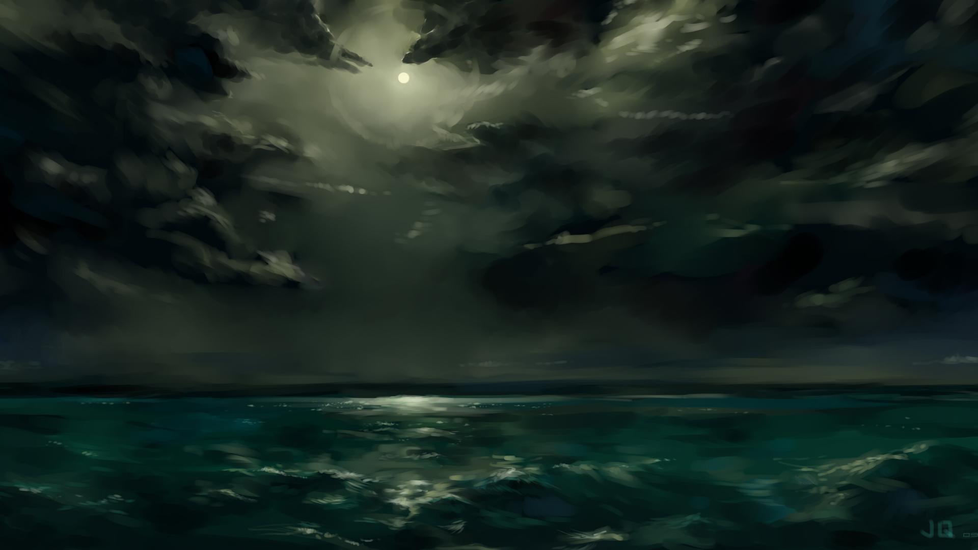 Clouds night storm sea wallpaper 1920x1080 217848 WallpaperUP 1920x1080
