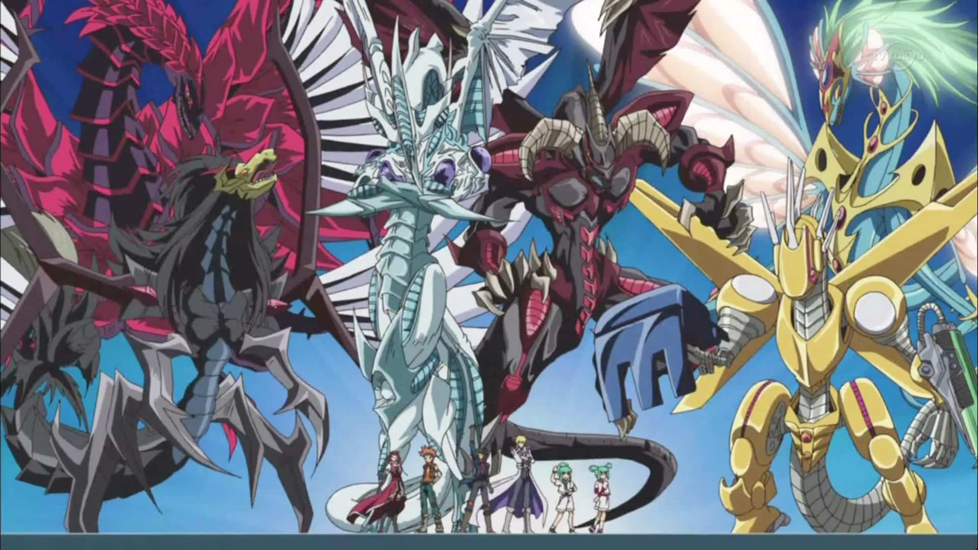 Yu gi oh 5Ds Signer Dragons by samethernet 1920x1080