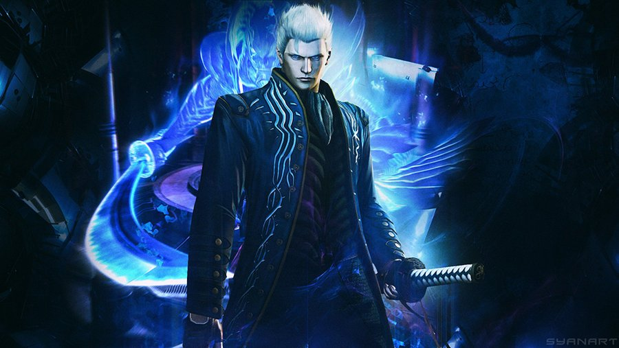 Devil May Cry 4 SE Vergil wallpaper by TheSyanArt 900x507
