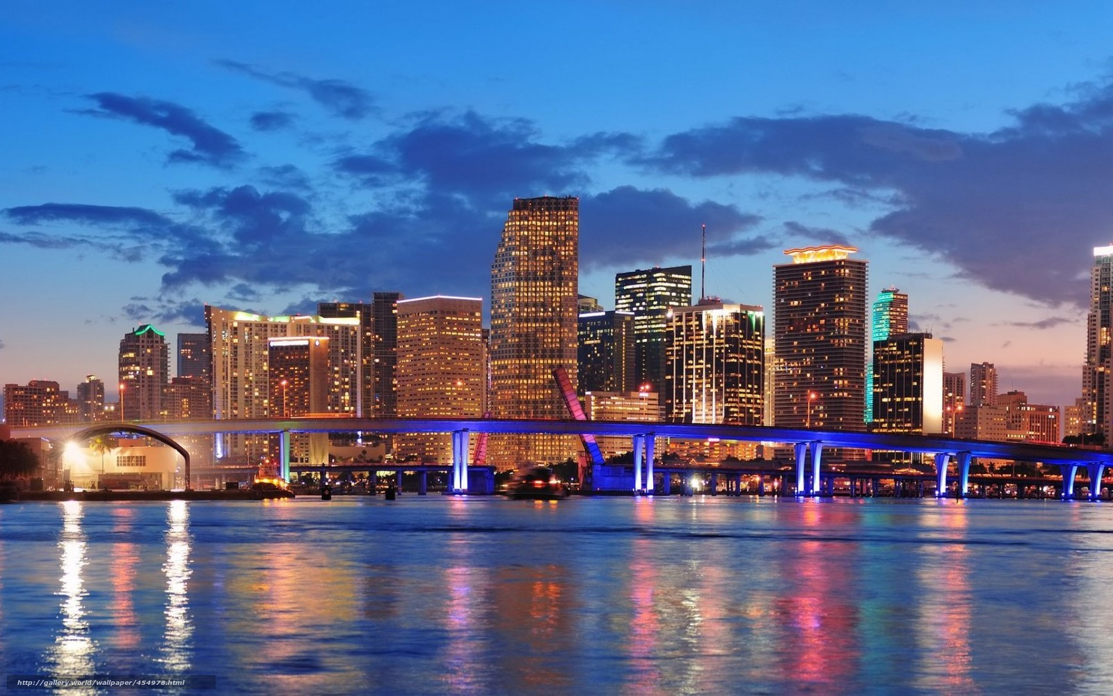 Download wallpaper USA Florida Miami city desktop wallpaper in 1600x1000