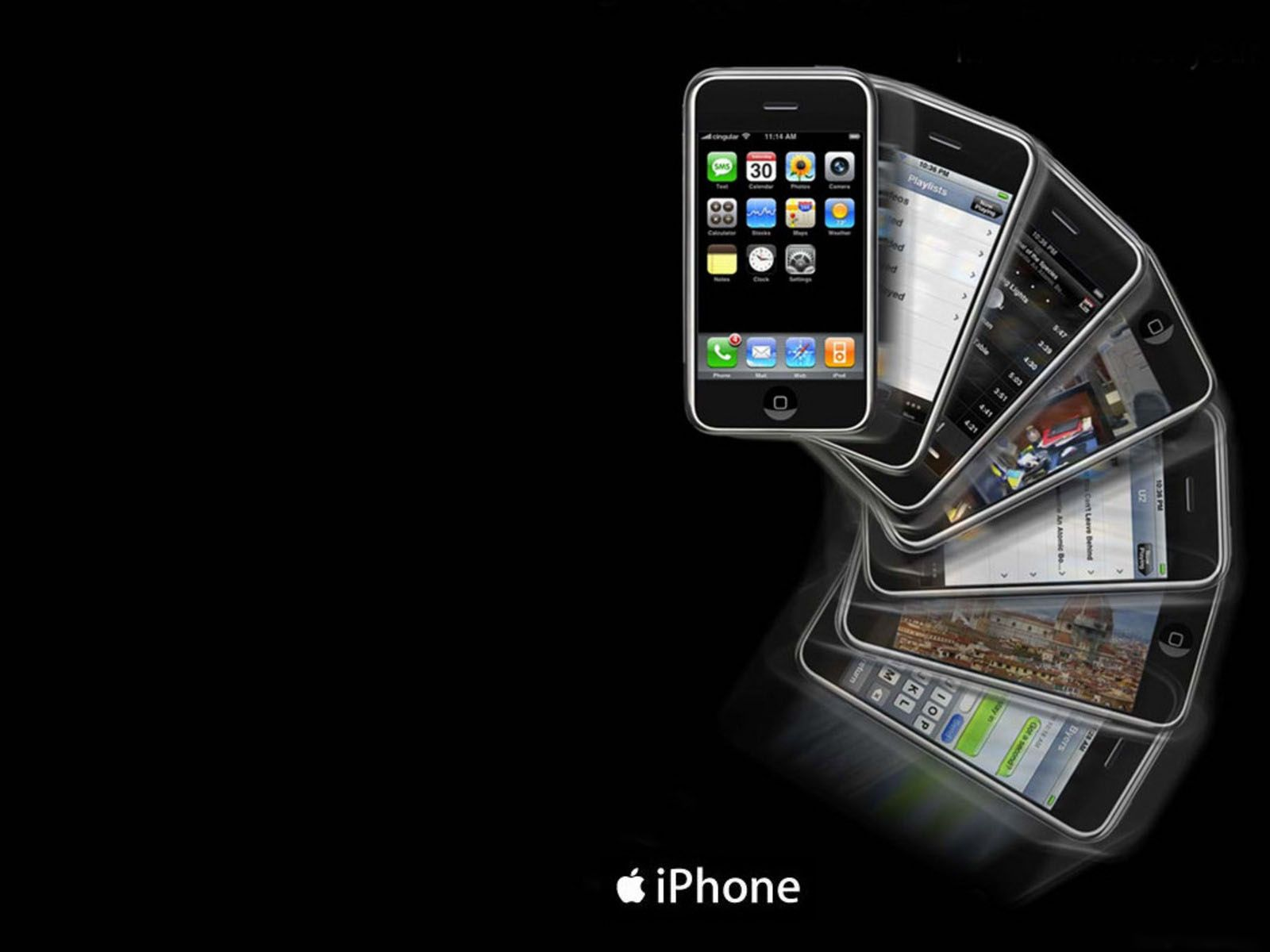 Apple iPhone template Background Wallpaper for PowerPoint 1600x1200