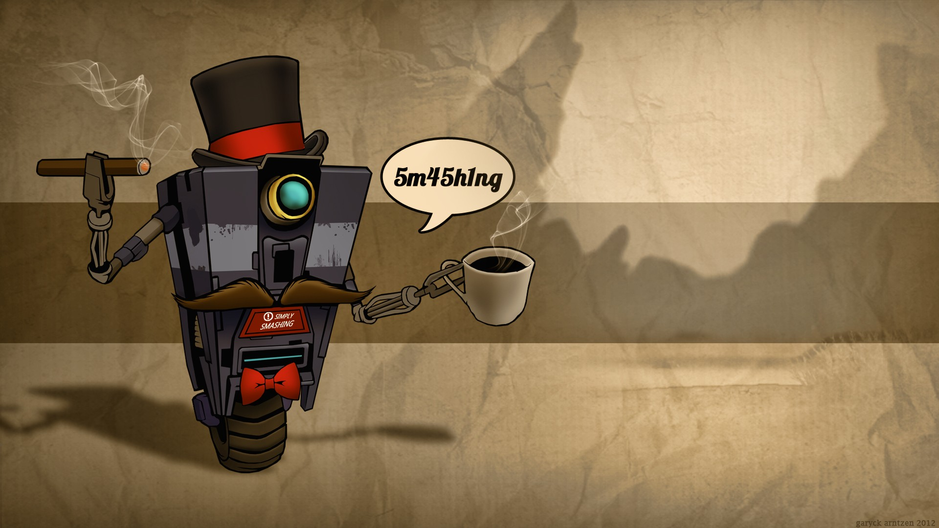 Smashing ClapTrap Wallpaper Simply Smashing ClapTrap iPhone Wallpaper 1920x1080