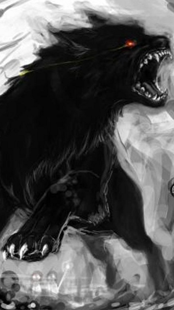 dark wolf download wallpapers for your Nokia 5250 mobile phone 360x640