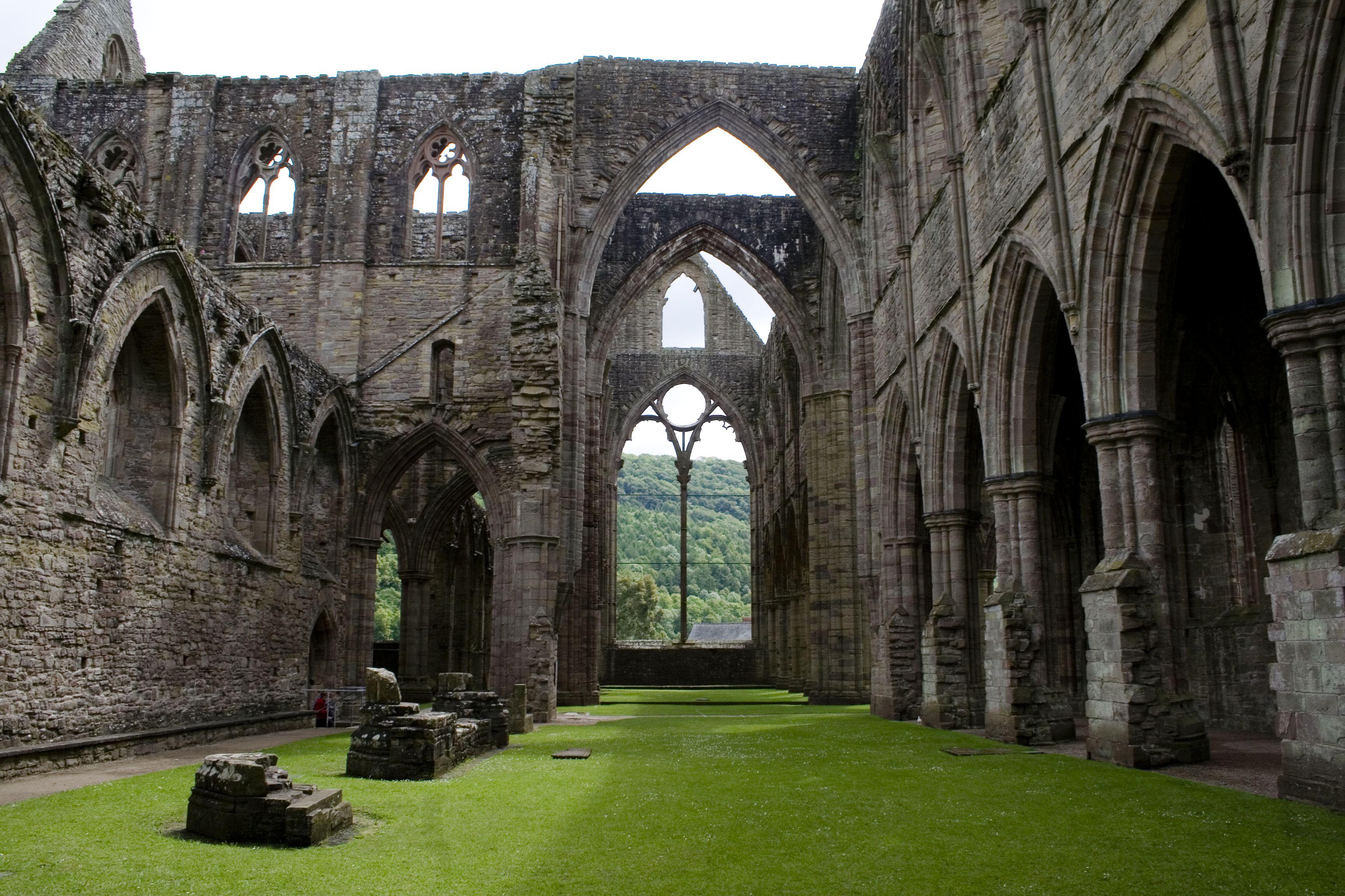 Tintern Abbey Wallpaper images Arch Ref Pembroke castle Wales 3456x2304