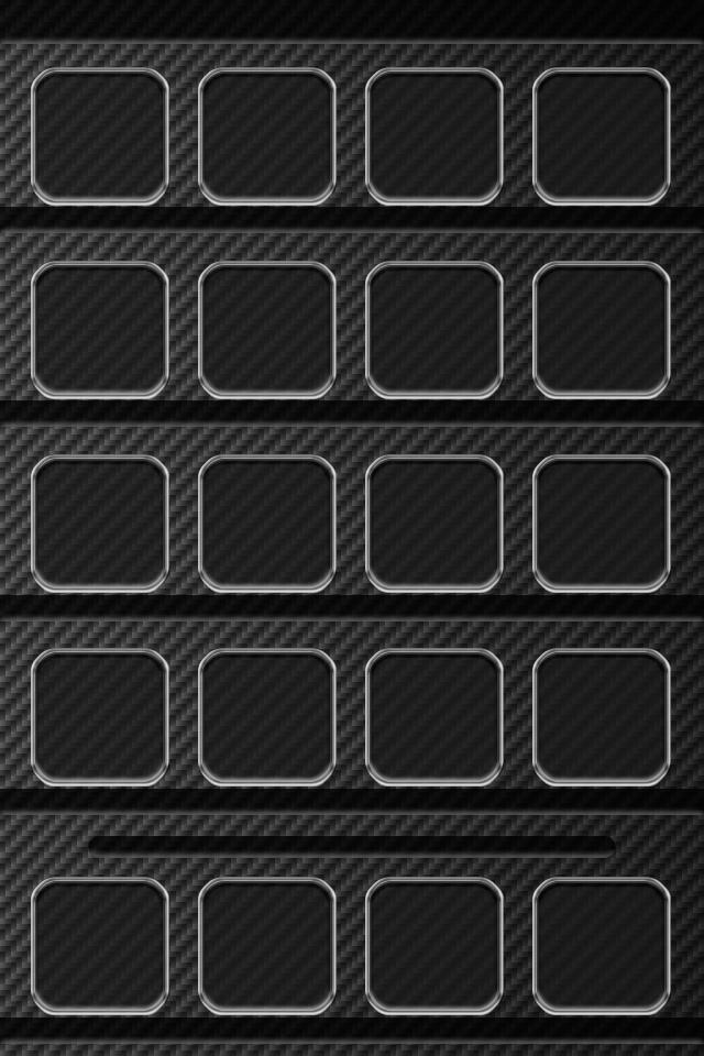 Carbon Fiber Shelf iPhone Wallpaper HD 640x960