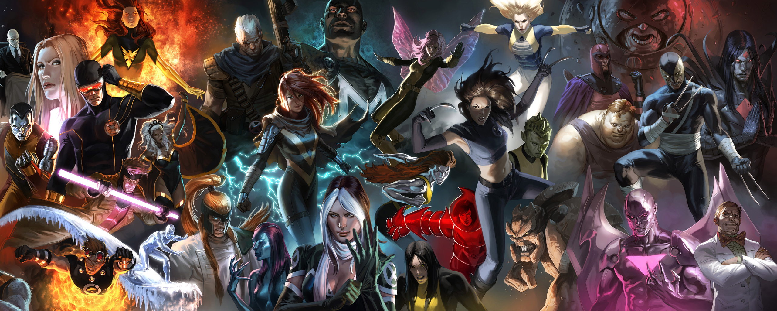 Comics X Men Wallpaper 2560x1024 Comics XMen Phoenix Storm 2560x1024
