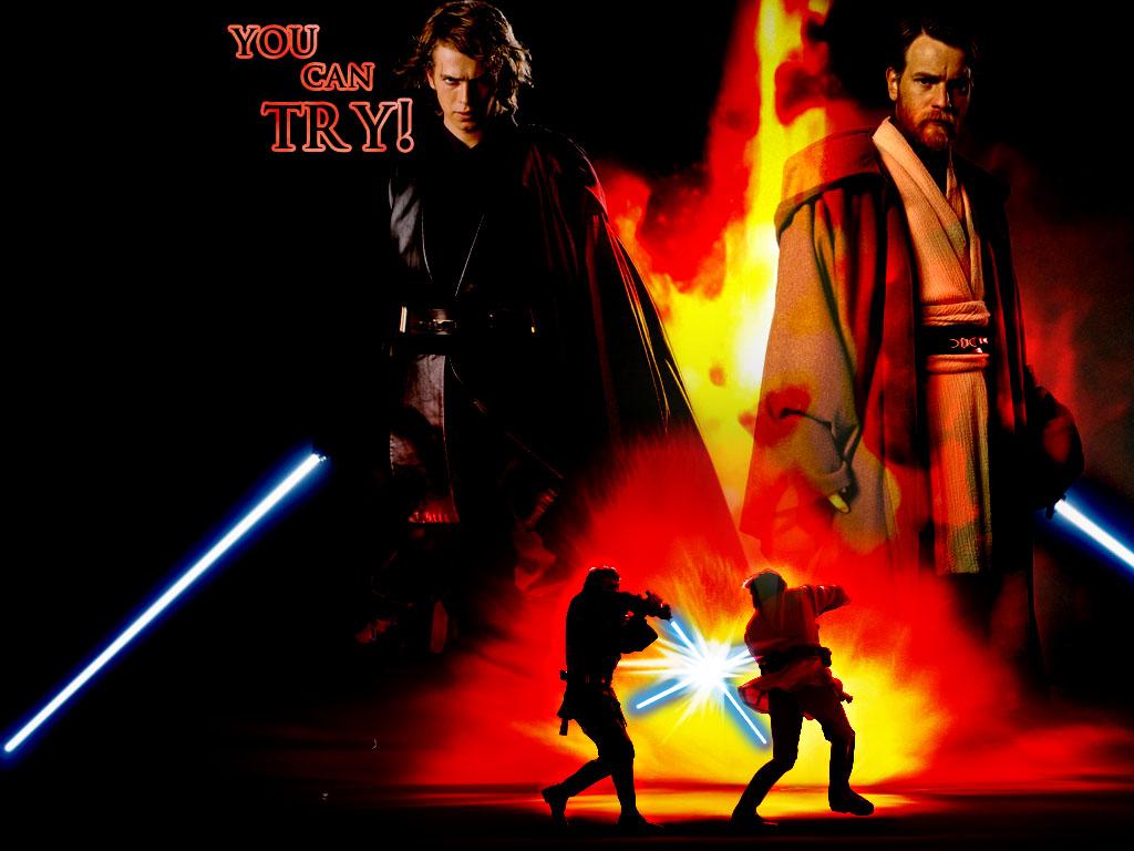 Obi Wan Vs Anakin Wallpaper Anakin obi wan 1024x768