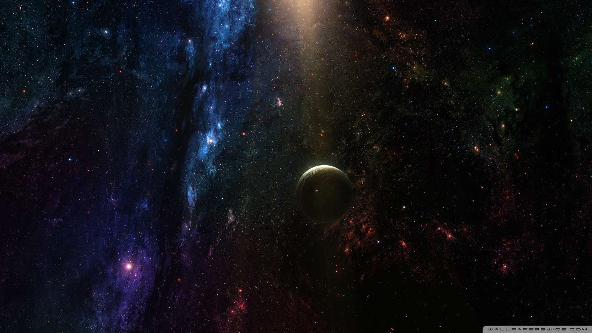 Wallpaper Planet In Deep Space Wallpaper 1080p HD Upload at February 1920x1080
