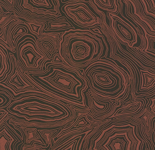 Wallpaper Metallic copper and black malachite effect wallpaper 534x517