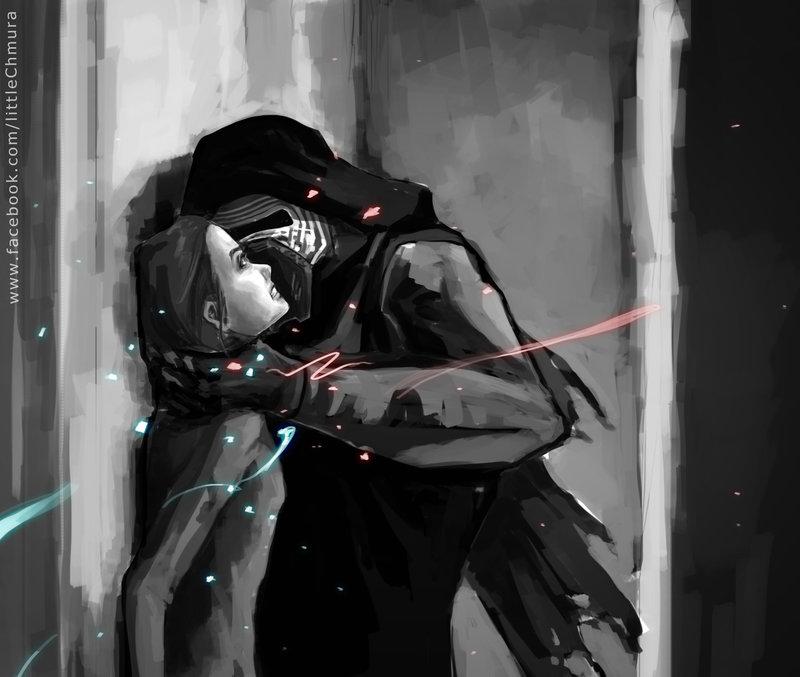 Star Wars Kylo Ren and Rey III by LittleChmura 800x677