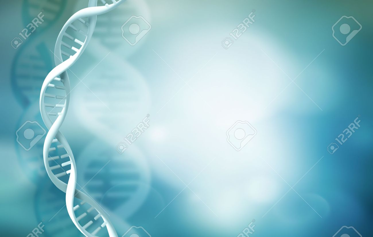 Abstract Science Background With DNA Strands Stock Photo Picture 1300x828