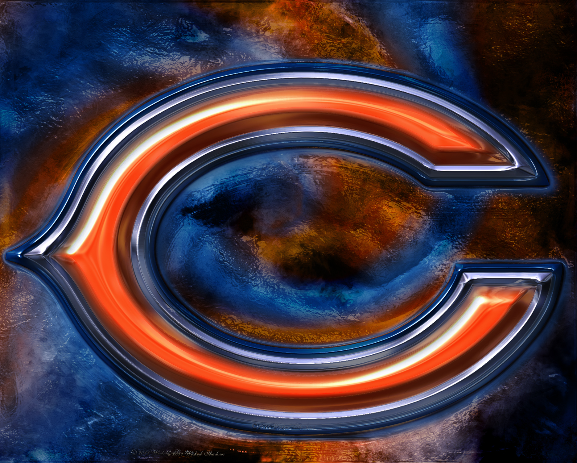 Chicago Bears 3D Logo Wallpaper   Hot NFL Wallpaper Site 1871x1500