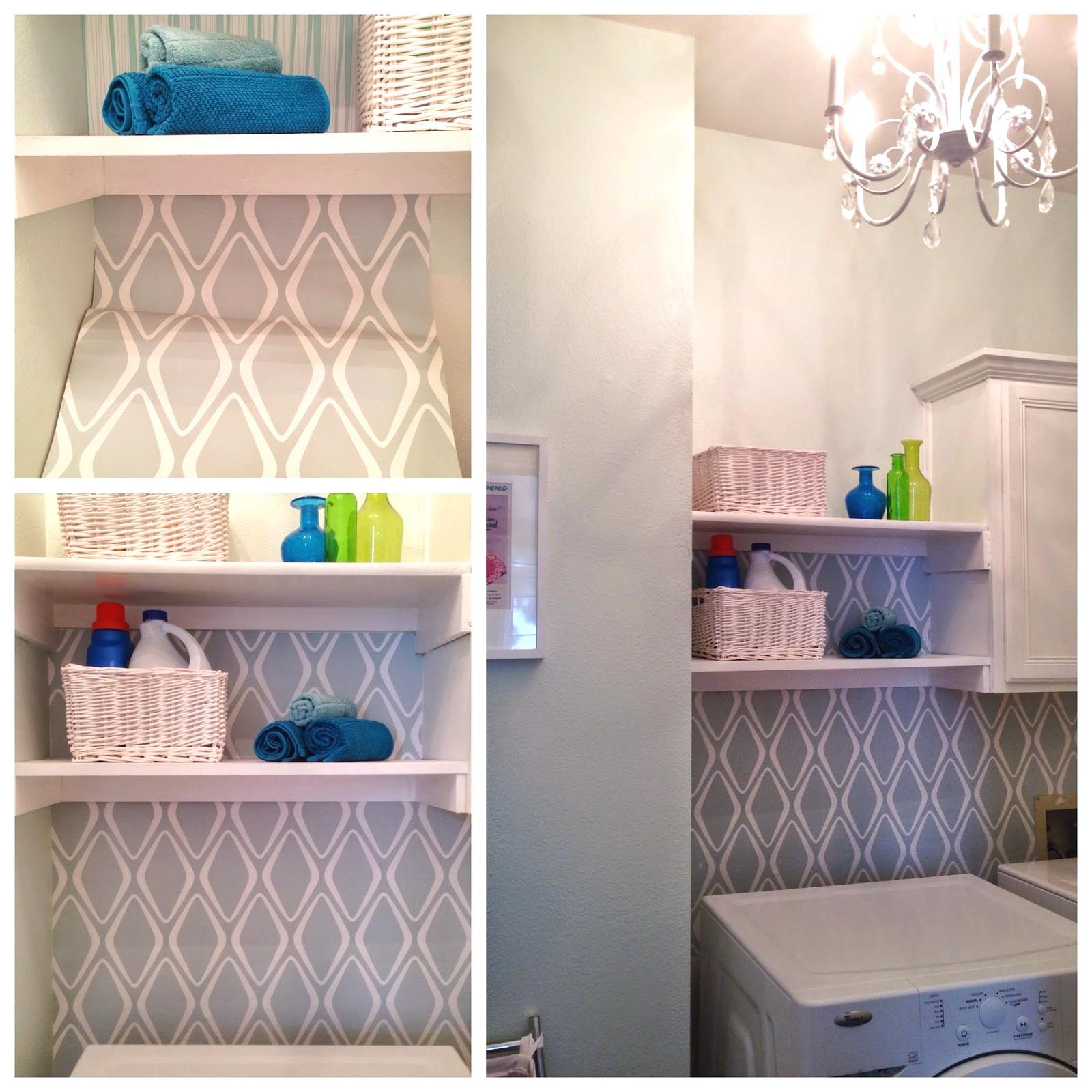 Confidential Laundry Room Wallpaper Decor Update Devine Color Fab 1600x1600