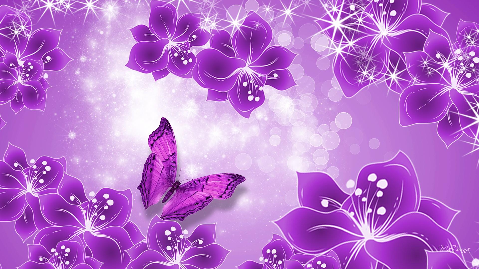 pink and purple butterfly wallpaper - wallpapersafari