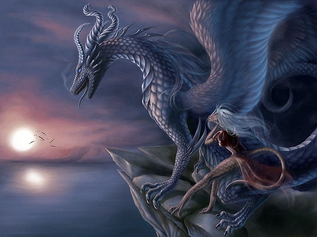 Fantasy Art Wallpapers Backgrounds Dragons 1024x768