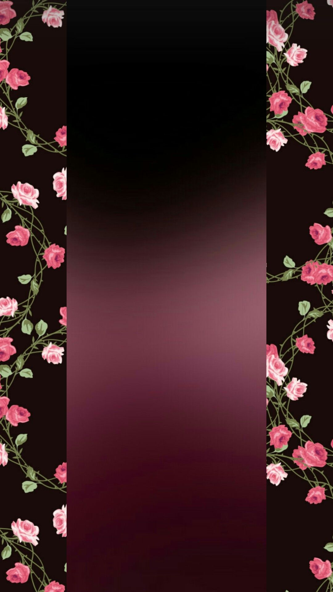 Black and pink flowers wallpapers for phone in 2019 Flowery 1080x1920