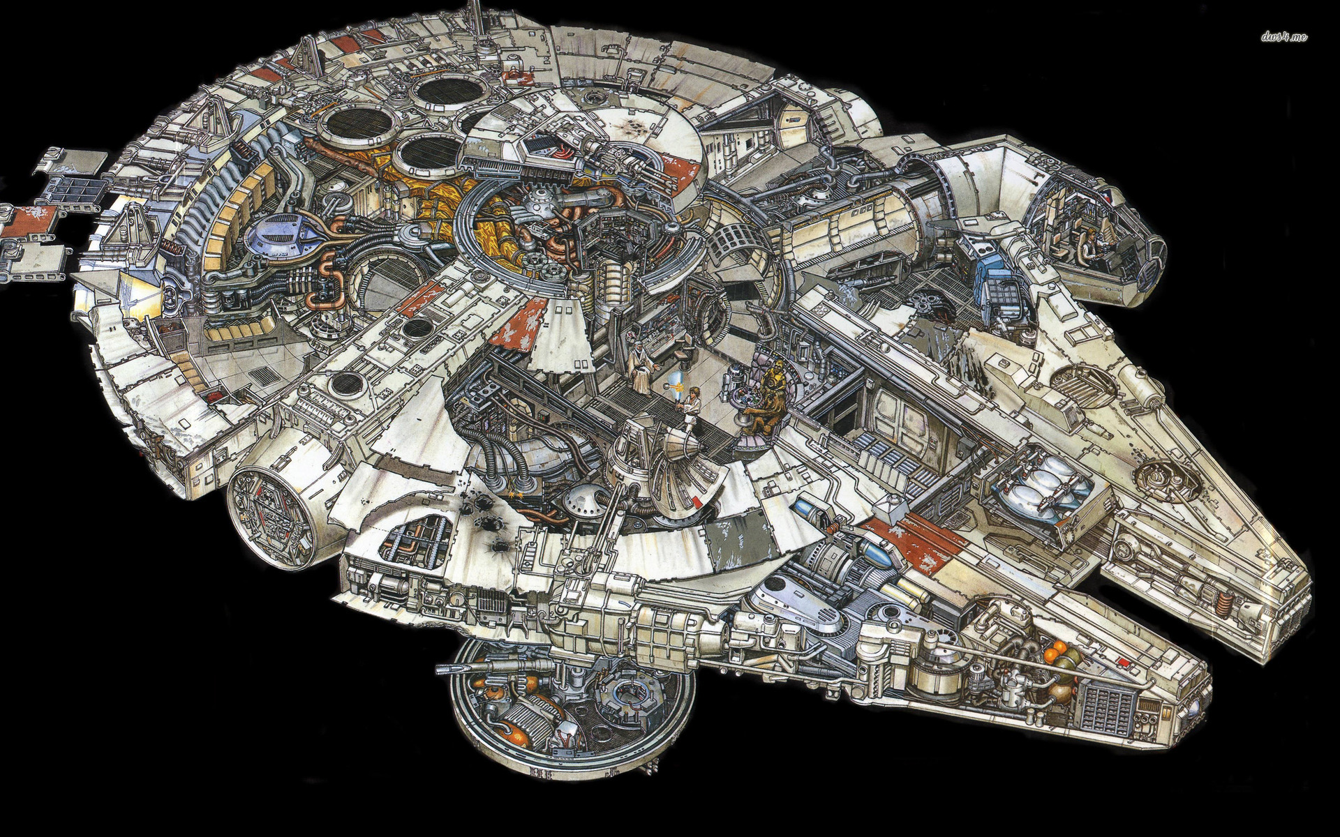 Displaying images for millenium falcon cockpit wallpaper - Millennium Falcon Hd Wallpapers